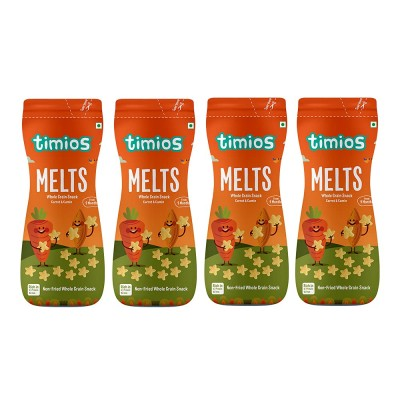 Timios Melts Carrot and Cumin Finger Snack- Pack of 4