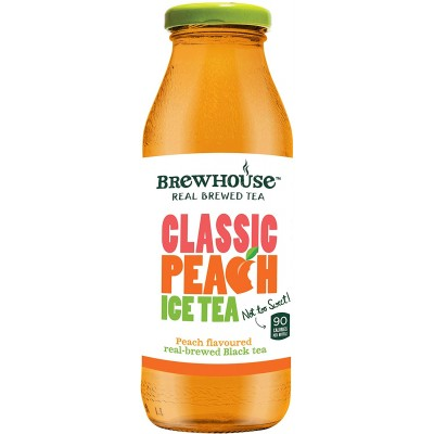 Brewhouse Classic Peach Ice Tea 350 ML Glass Bottle