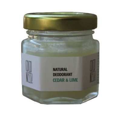 Coconess Natural Deodorant: Cedar & Lime - 25 gm