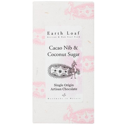 Earth Loaf Cacao Nib & Coconut Sugar Chocolate Bar (Pack of 2)