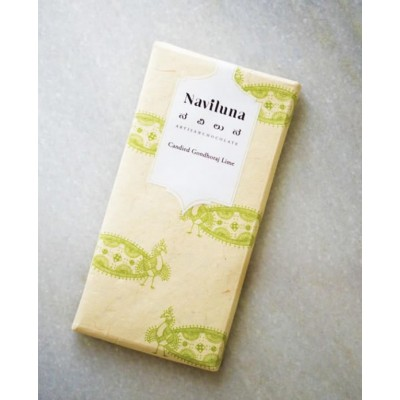 Naviluna Earth Loaf Candied Gondhoraj Lime Chocolate Bar (Pack of 3)
