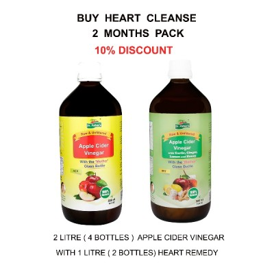 Heart Cleanse 2 months pack (Apple Cider Vinegar with Heart Remedy)