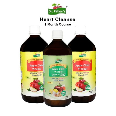 Heart cleanse 1 month pack (Apple Cider Vinegar with Heart Remedy)