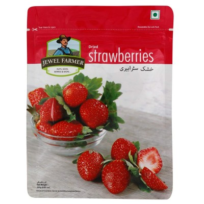 Jewel Farmer Naturally Dried Strawberry Dry Fruit 250 Gm