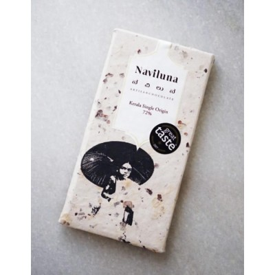 Naviluna - Earth Loaf 72% Keralan Single Estate Chocolate Bar (Pack of 3)