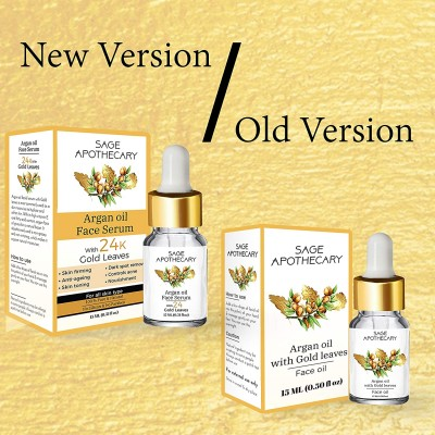 ARGAN OIL FACE SERUM WITH 24K GOLD LEAVES FROM LUJOBOX BY SEER SECRETS