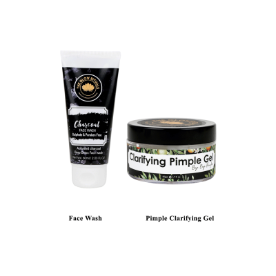 CHARCOAL FACE WASH AND PIMPLE CLARIFYING GEL COMBO FROM LUJOBOX BY THE GLOW RITUALS
