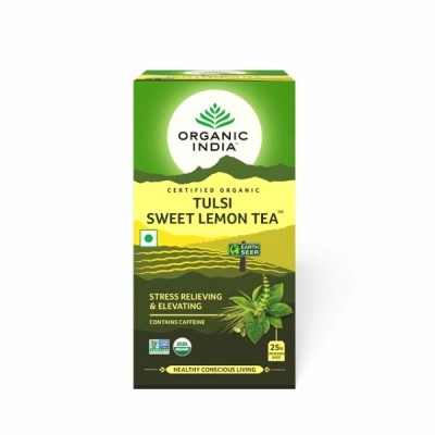 Organic India Tulsi Sweet Lemon Tea 25 Tea Bags