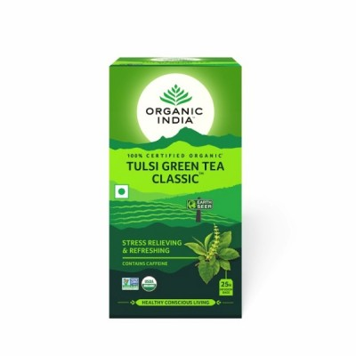 Organic India Tulsi Green Tea Classic 25 Tea Bags