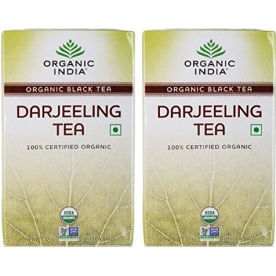 Organic India Darjeeling Tea 18 Tea Bags (Pack of 2)