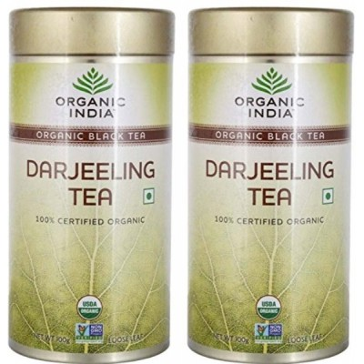 Organic India Darjeeling Tea 100 Gram Tin (Pack of 2)