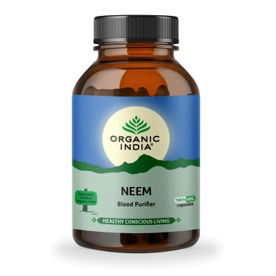 Organic India Neem 180 Capsules Bottle