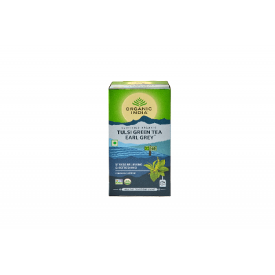 Organic India Tulsi Green Tea Earl Grey-25 Tea Bags