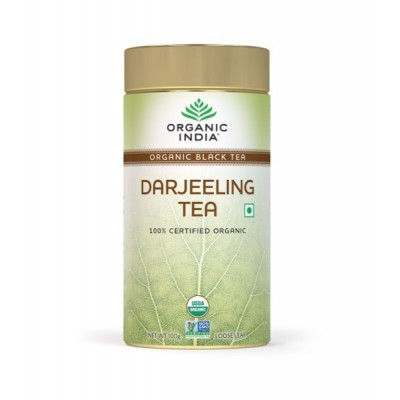 Organic India Darjeeling Tea 100 Gram Tin