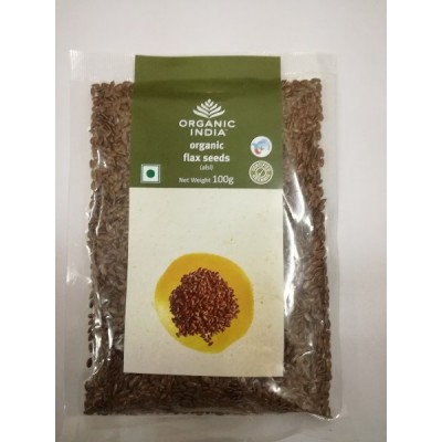 Organic India Flax Seed 100g Pack of 3