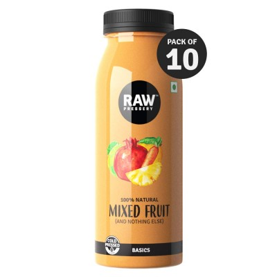 Raw Pressery 100% Natural Cold Pressed Juice - Mixed Fruit, 200 ml (Pack of 10)