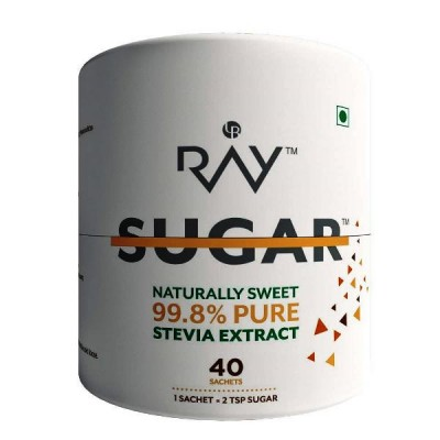 Ray Stevia Sugarfree Powder Sachet - 100% Natural Sweetener - 40 Sachets (40gm)