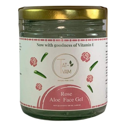 Tat-Tvam Organic Aloe Vera and Rose Face Gel