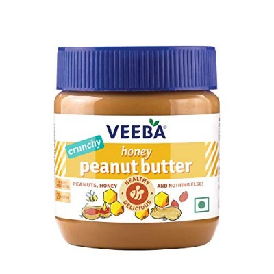 Veeba Honey Peanut Butter Crunchy,  340 g
